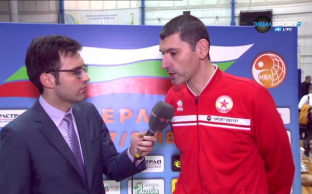 Треньорът на волейболния ЦСКА Александър Попов коментира загуба с 2:3