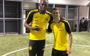 Асовете на Дортмунд се похвалиха след тренировката с Болт