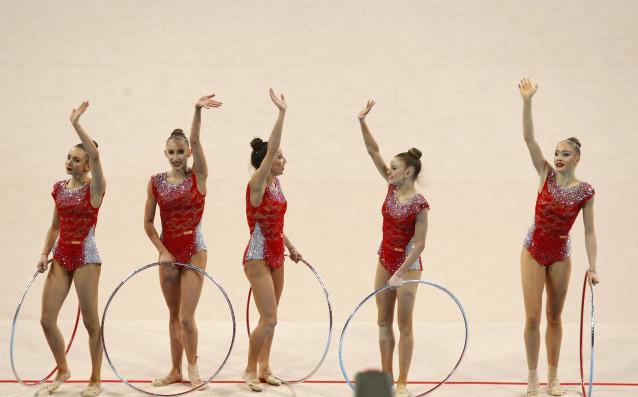 Ансамбъл на България по художествена гимнастика<strong> източник: LAP.bg</strong>