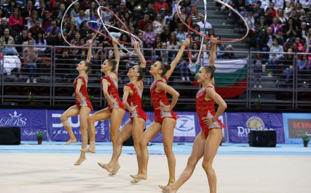 Ансамбълът на България по художествена гимнастика източник: LAP.bg