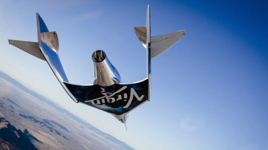Свръхзвуков полет на космическия самолет на Брансън