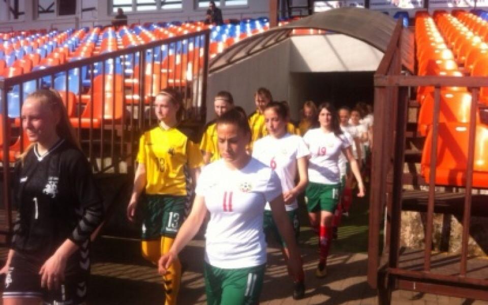 Девойките ни започнаха с категорична победа на турнира на УЕФА