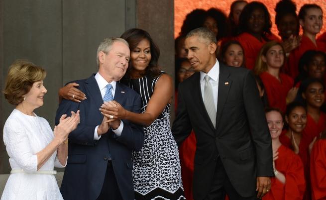 Семейство Буш и семейство Обама.