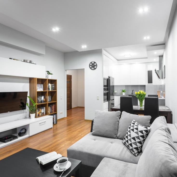 - 1. Мебелите - малко, но подбрани с вкус- малкото пространство не ви позволява да имате много мебели, ето защо ги избирате с голяма прецизност...