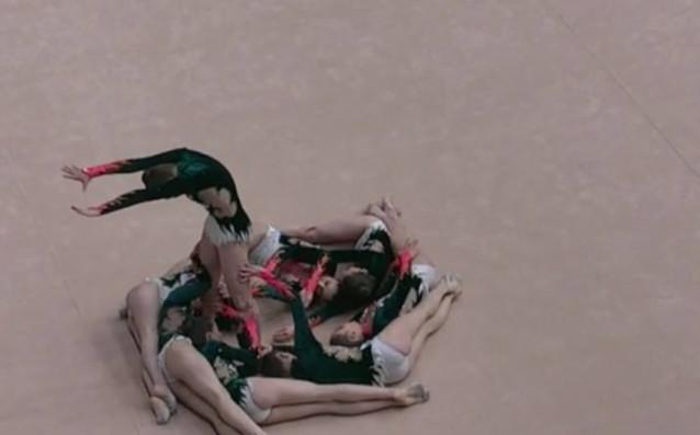 Девойките от националния отбор на България по Естетическа групова гимнастика