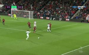 Борнемут - Ман Юнайтед 0:1 /първо полувреме/