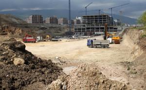 Министър Кралев посети  строежа на новата  спортна зала София Парк