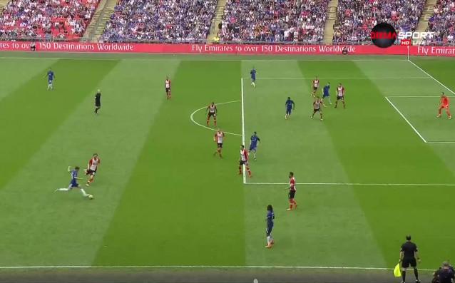Челси вече води с 2:0 на Саутхемптън в полуфиналния сблъсък