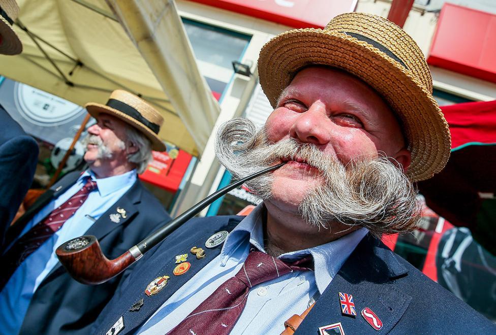 - Членове на Ордена на Брюкселския мустак участват в конкурс за най-красивите мустаци на годината в Брюксел, Белгия. Изборът на Мустак на Брюксел е...