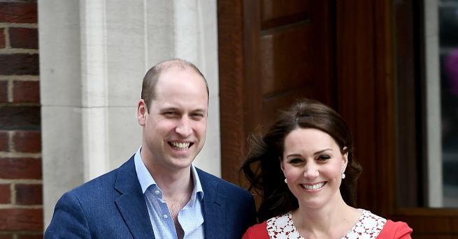 Херцогинята на Кеймбридж Кейт Мидълтън роди третото си бебе в