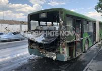 Автобус се запали в София
