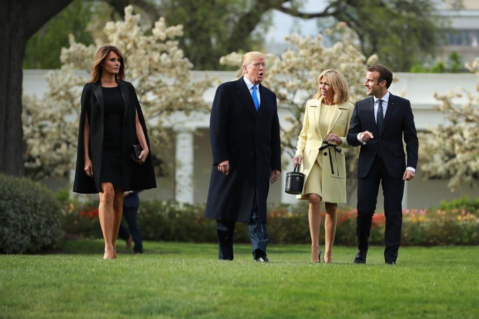 Първите дами на САЩ и Франция демонстрираха стил със своите тоалети, по време на тридневно държавно посещение във Вашингтон на френския президент Еманюел Макрон