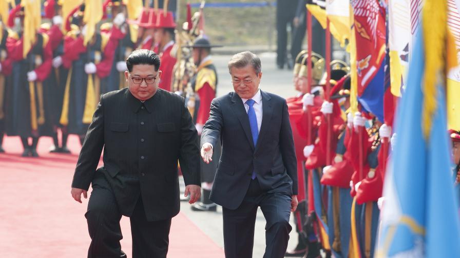 Срещата на върха в Корея почна с дипломатически гаф