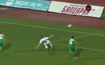Голът на Милчо Ангелов за Славия срещу Пирин