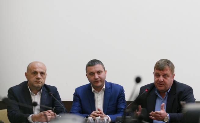 Томислав Дончев, Владислав Горанов и Красимир Каракачанов
