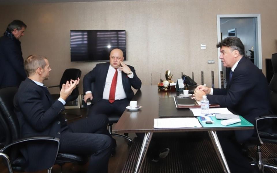 Президентът на УЕФА ще участва в среща на европейските спортни министри