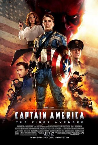 """8. Captain America: The First Avenger / """"Капитан Америка: Първият отмъстител"""" (2011) – Най-зрелият, старомоден и добре изграден герой на Marvel започва своето екранно израстване от потапящите в действието декори на режисьора Джо Джонстън от фронтовете на Втората световна война. Крис Еванс блести в главната роля, а химията му с Хейли Атуел, Себастиан Стан и Томи Лий Джоунс е фантастична."""