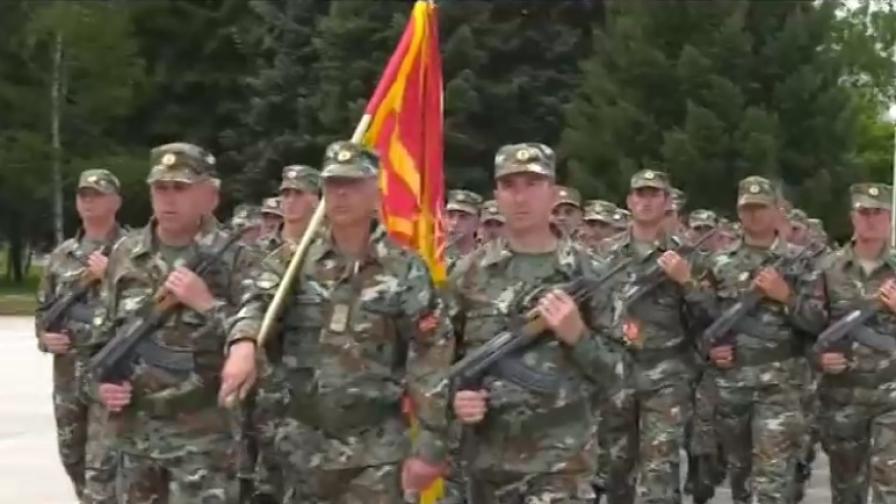Това са македонските военни, които маршируваха в София