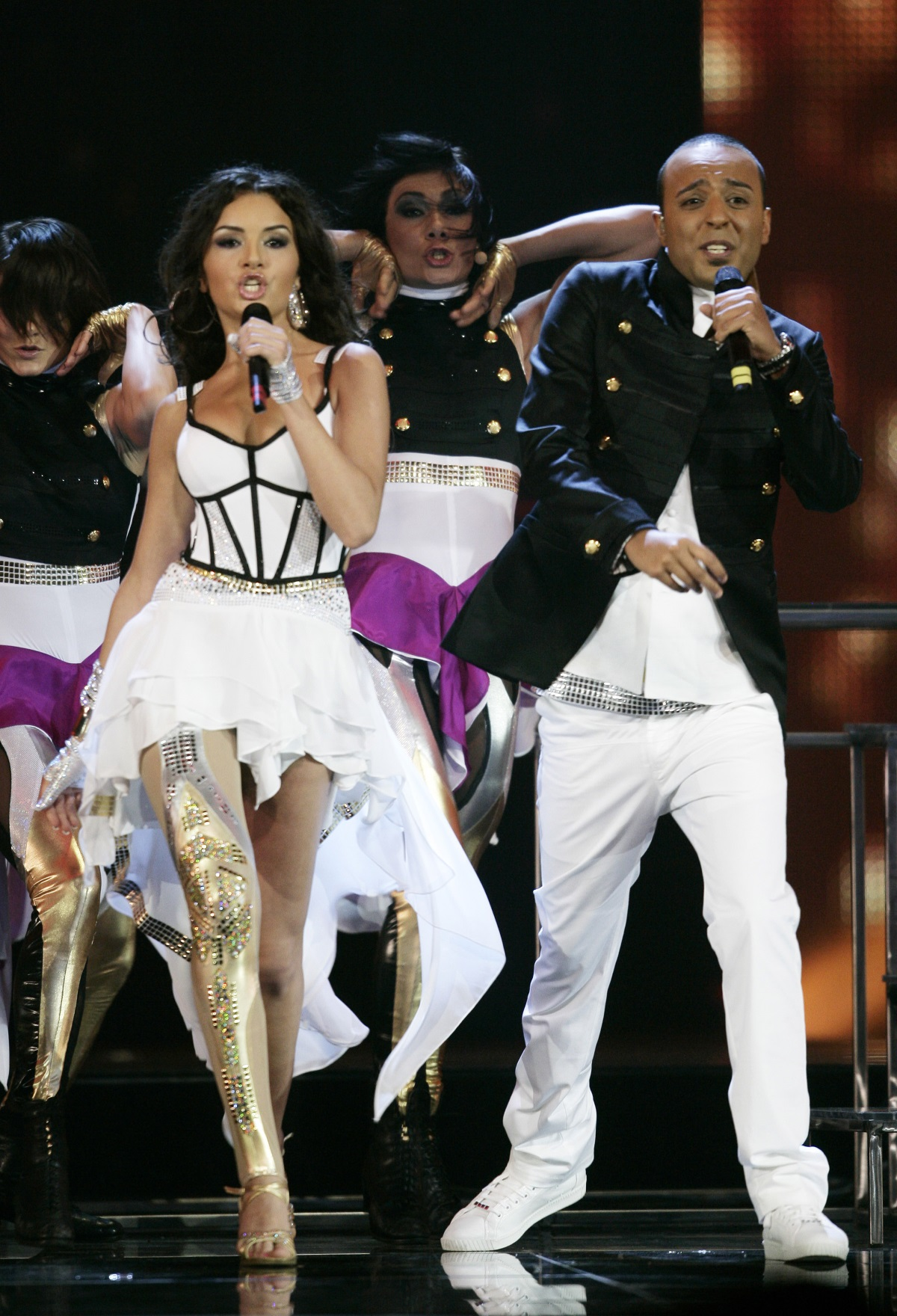 """Айсел и Араш от Азербайджан на финала на """"Евровизия"""" в Москва през 2009 г."""