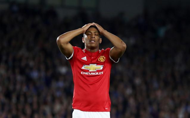 Нападателят на Манчестър Юнайтед Антони Марсиал пропуска заключителния шампионатен мач