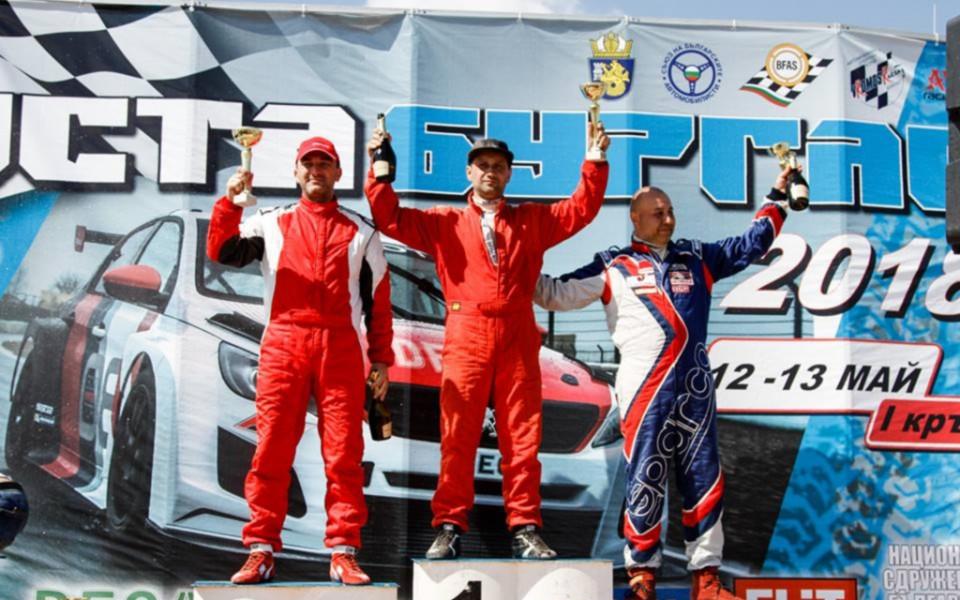 Камен Василев с първо състезание на писта