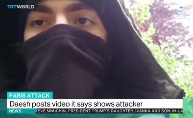 ИДИЛ се похвали с видео на нападателя от Париж