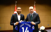 Срещата на Ердоган с Йозил, Гюндоган и Тосун<strong> източник: twitter.com/Akparti</strong>