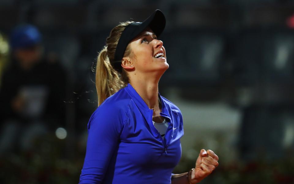 Бранещата титлата Свитолина на полуфинал в Рим