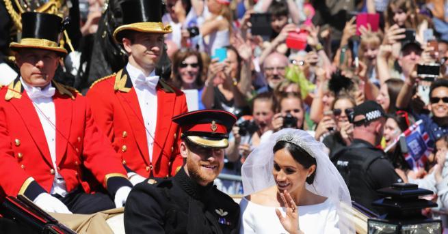 Милиони погледи бяха насочен днес към замъка Уиндзор, където принц