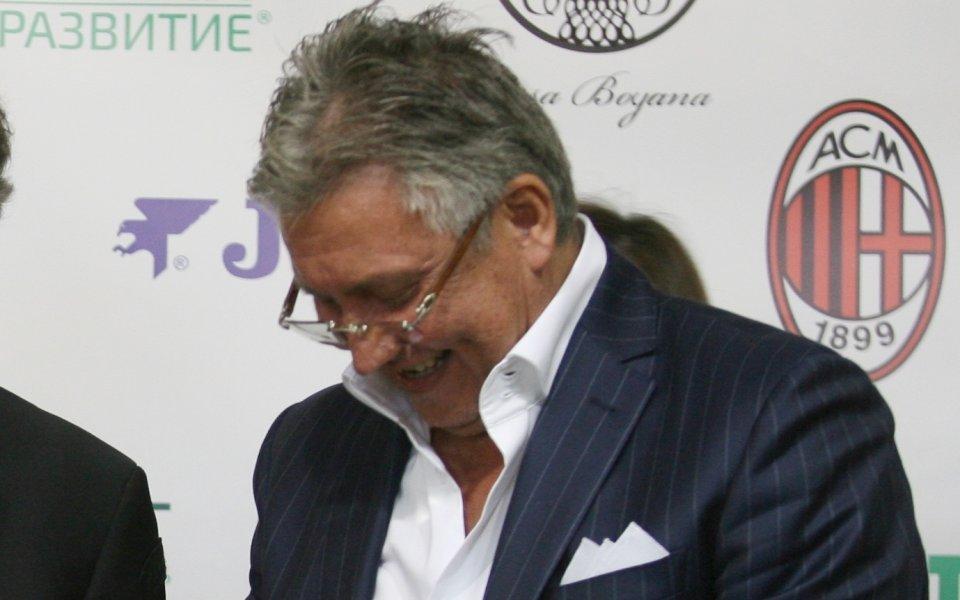Собственикът на столичния ЛокомотивИван Василев изрази възмущението си от съдийството