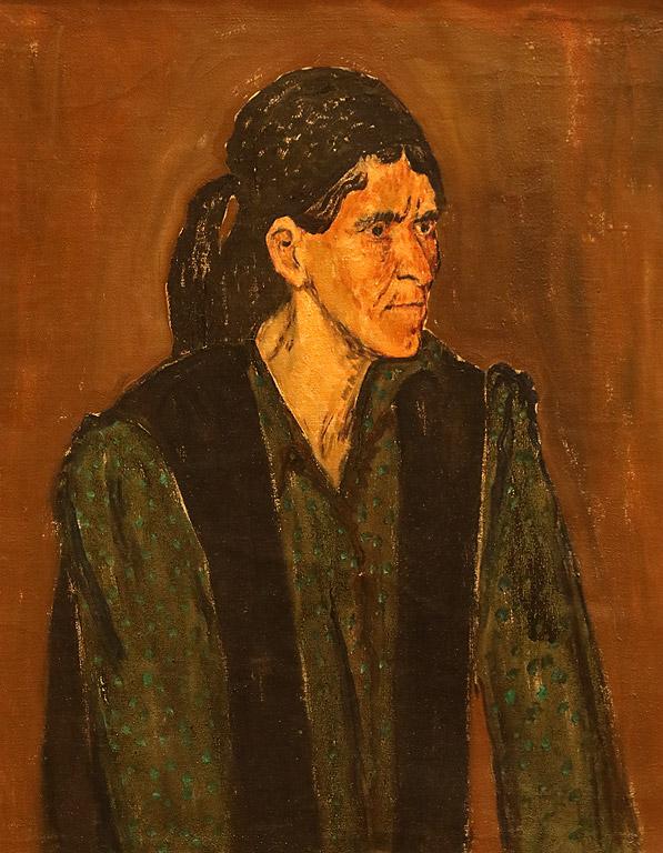 Портрет на сестрата на художника, края на 1950-те