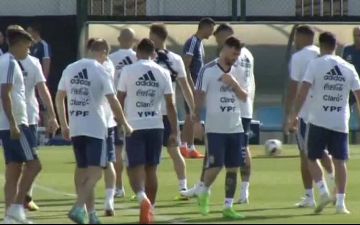 Аржентина започна подготовка в Барселона