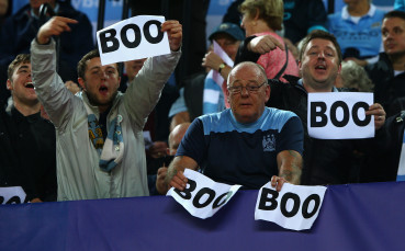 Фенове на Манчестър Сити с протест срещу УЕФА