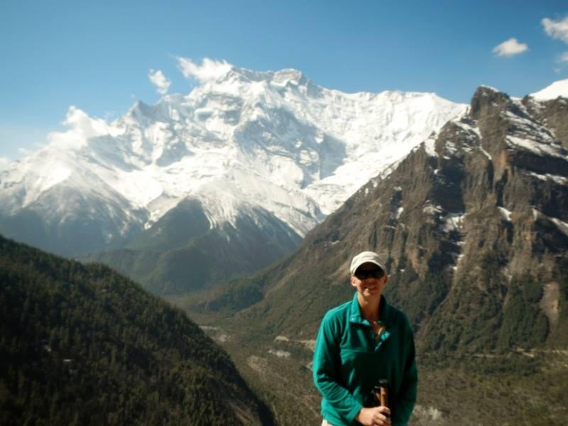 Джуди е планинар по душа, преди терапията изкачва връх Анапурна в Хималаите.