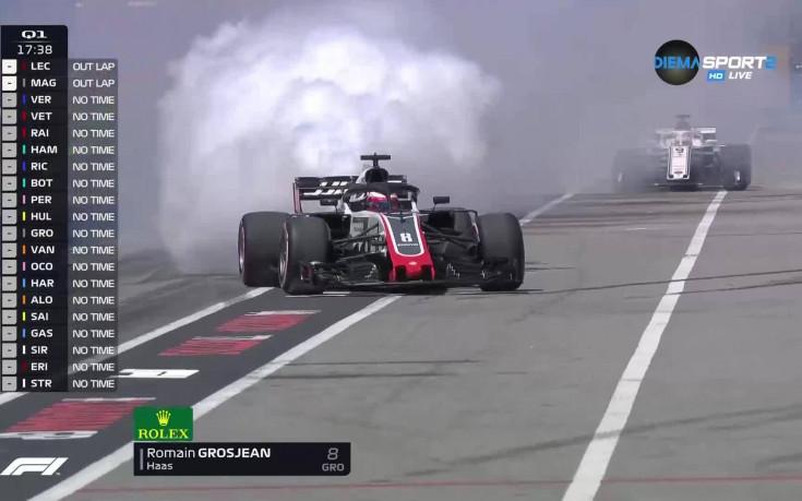 Проблеми с двигателя извадиха Грожан от квалификацията в Канада