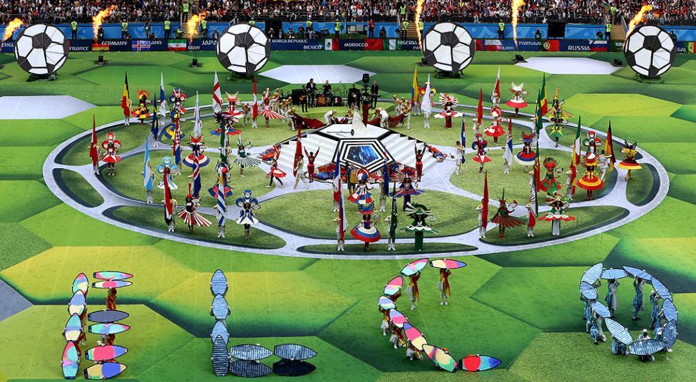 - Церемония по откриване на световното първенство по футбол