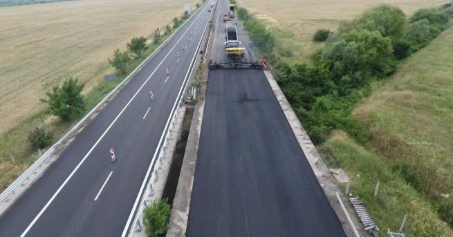 "Временно е спряно движението по автомагистрала ""Тракия"" в района на"