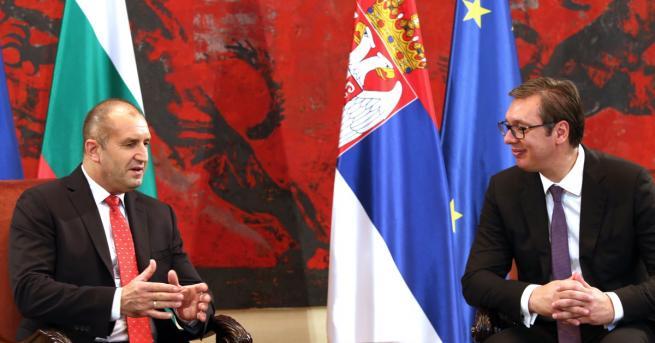 Президентите на България и Сърбия Румен Радев и Александър Вучич