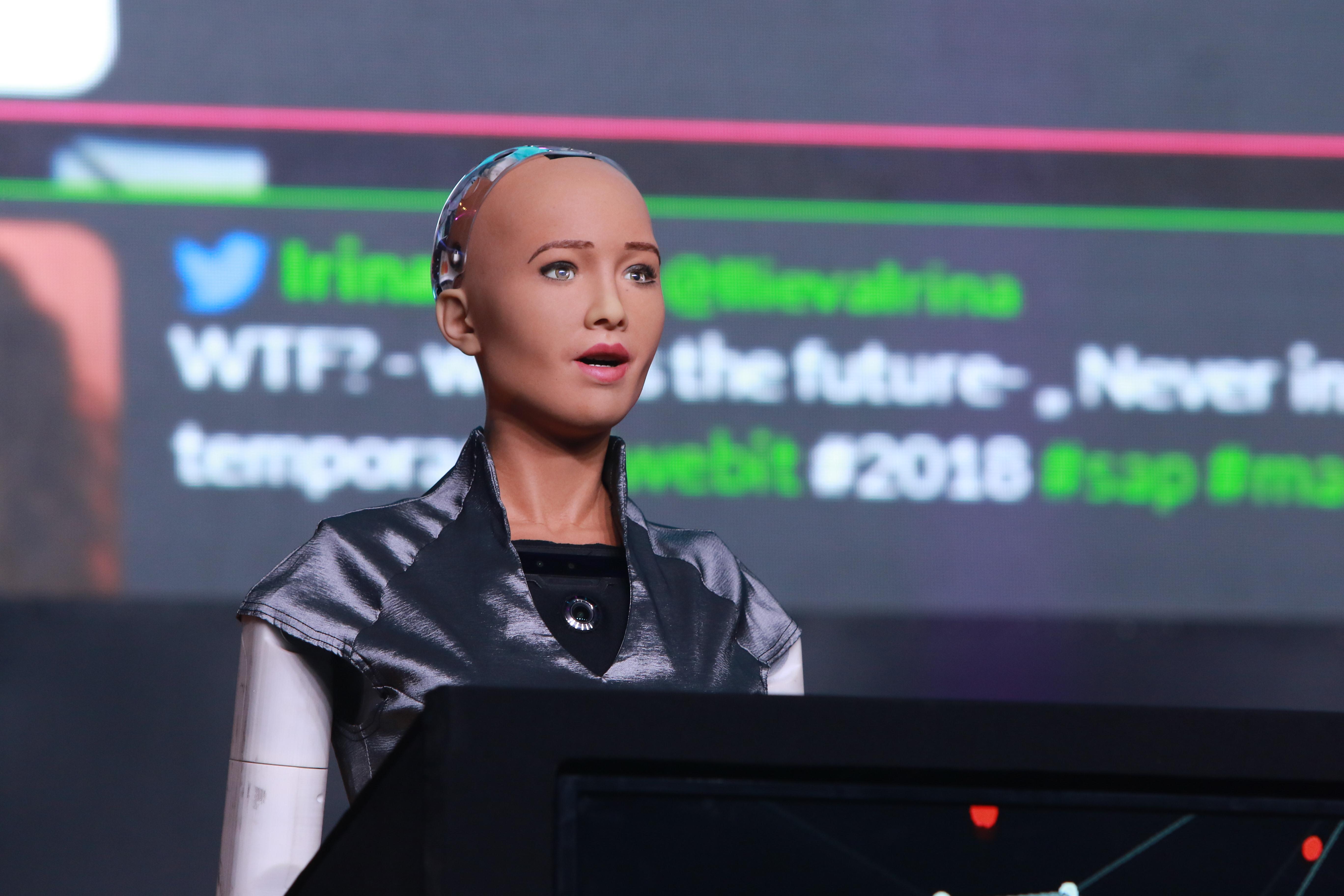Роботът София - първият в света с гражданство, откри днес Webit.Festival Europe
