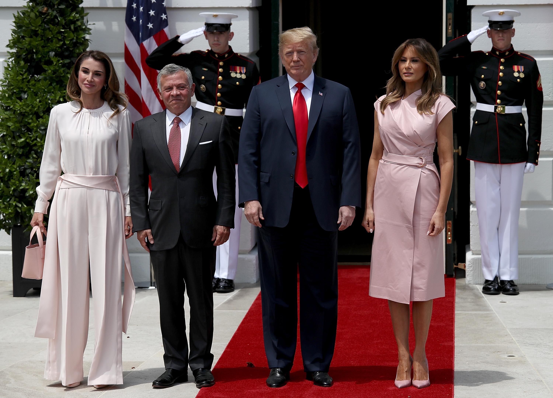 Мелания Тръмп и кралица Рания