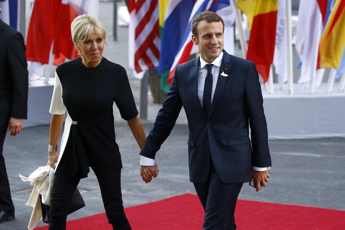 Брижит и Еманюел Макрон в Хамбург по повод срещата на върха на Г-20 миналото лято.