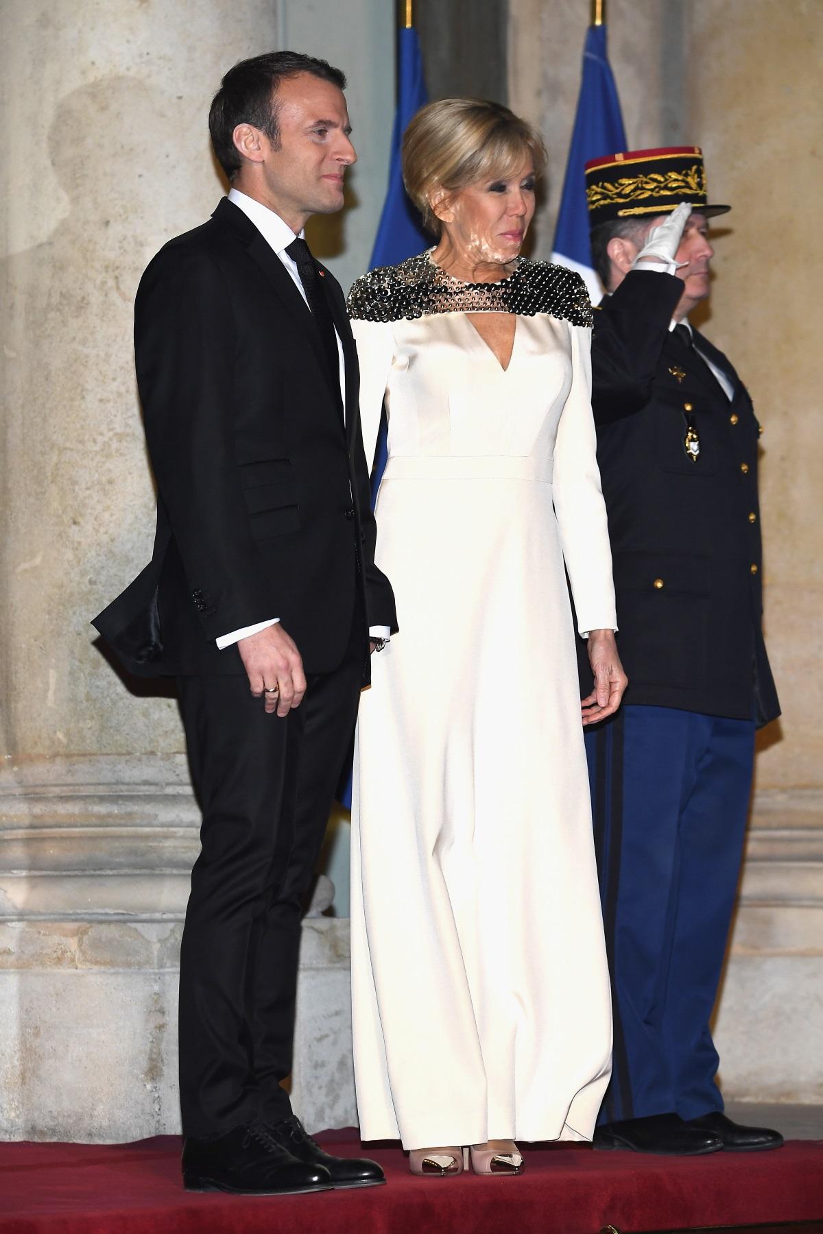 Първата дама на Франция посрещна в Елисейския дворец херцога на Люксембург -Анри Люксембургски,и съпругата му