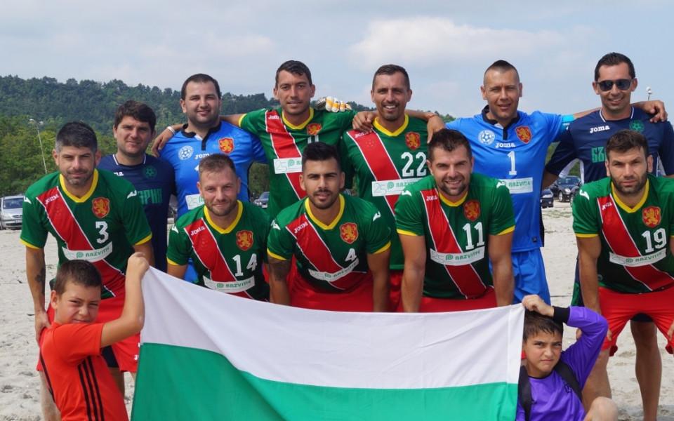 Националите по плажен футбол загряват с Румъния