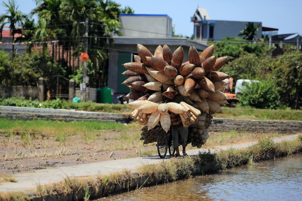 - Село Thu Sy, провинция Hung Yen, Виетнам е известно с изработването на риболовни кошници - традиционно средство за улов на риба и скариди в повечето...