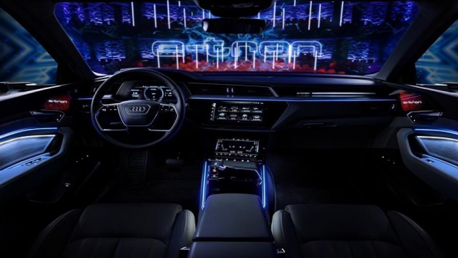 5 екрана, 16 колони и 2 камери вместо огледала за Audi e-tron