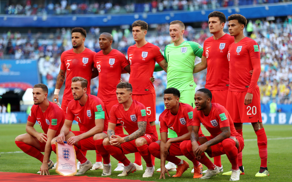 Четвъртфиналът между Швеция и Англия в снимки