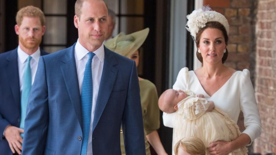 Вижте Кейт и Меган Маркъл на кръщенето на принц Луи