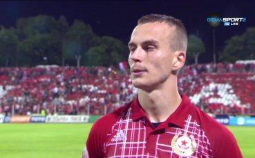 Секулич: ЦСКА игра слабо през първото полувреме