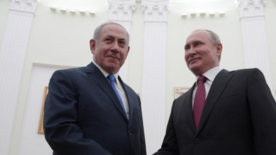 Владимир Путин и Бенямин Нетаняху в Кремъл