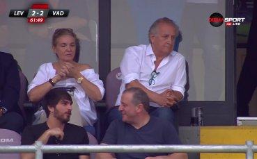 Спас Русев наблюдава двубоя между Левски и Вадуц